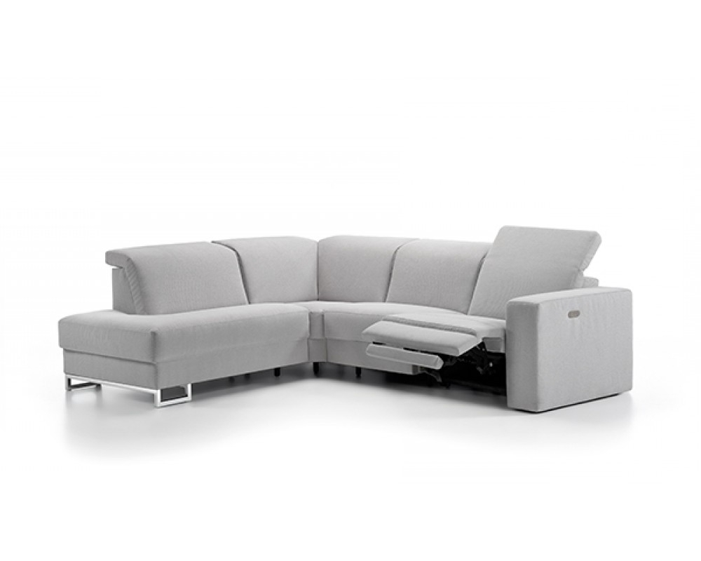 Preferred Fabric Sectional Sofa With Electric Reclinerrom Furniture, Belgium Inside Sectional Sofas With Electric Recliners (View 11 of 15)