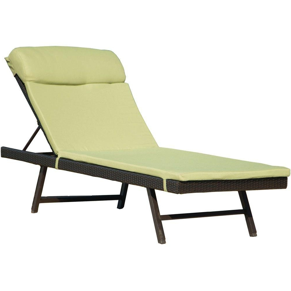 Preferred Green – Outdoor Chaise Lounges – Patio Chairs – The Home Depot Throughout Home Depot Chaise Lounges (View 14 of 15)