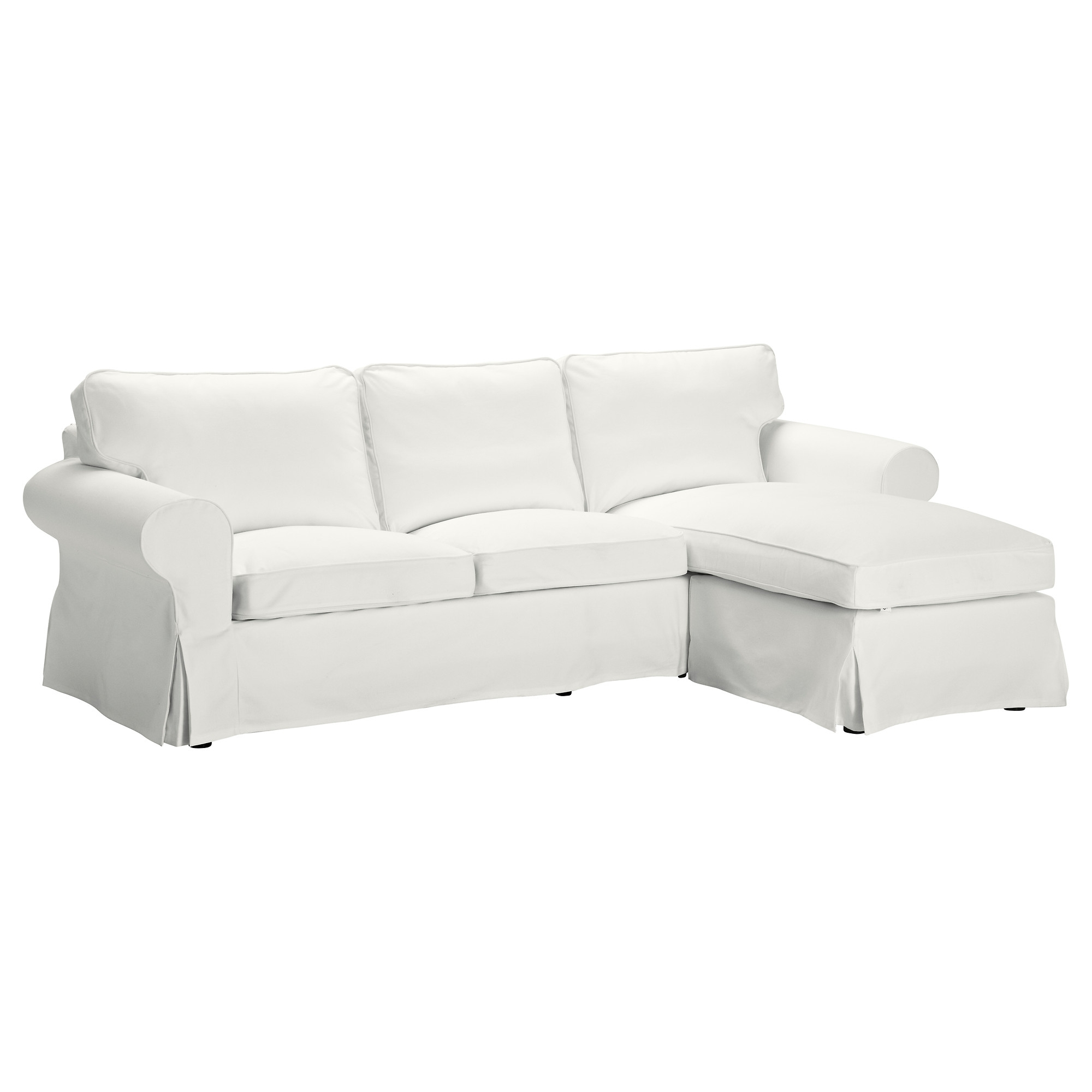 Preferred Ikea Chaise Sofas With Regard To Ektorp Cover For 3 Seat Sofa With Chaise Longue/blekinge White – Ikea (View 12 of 15)