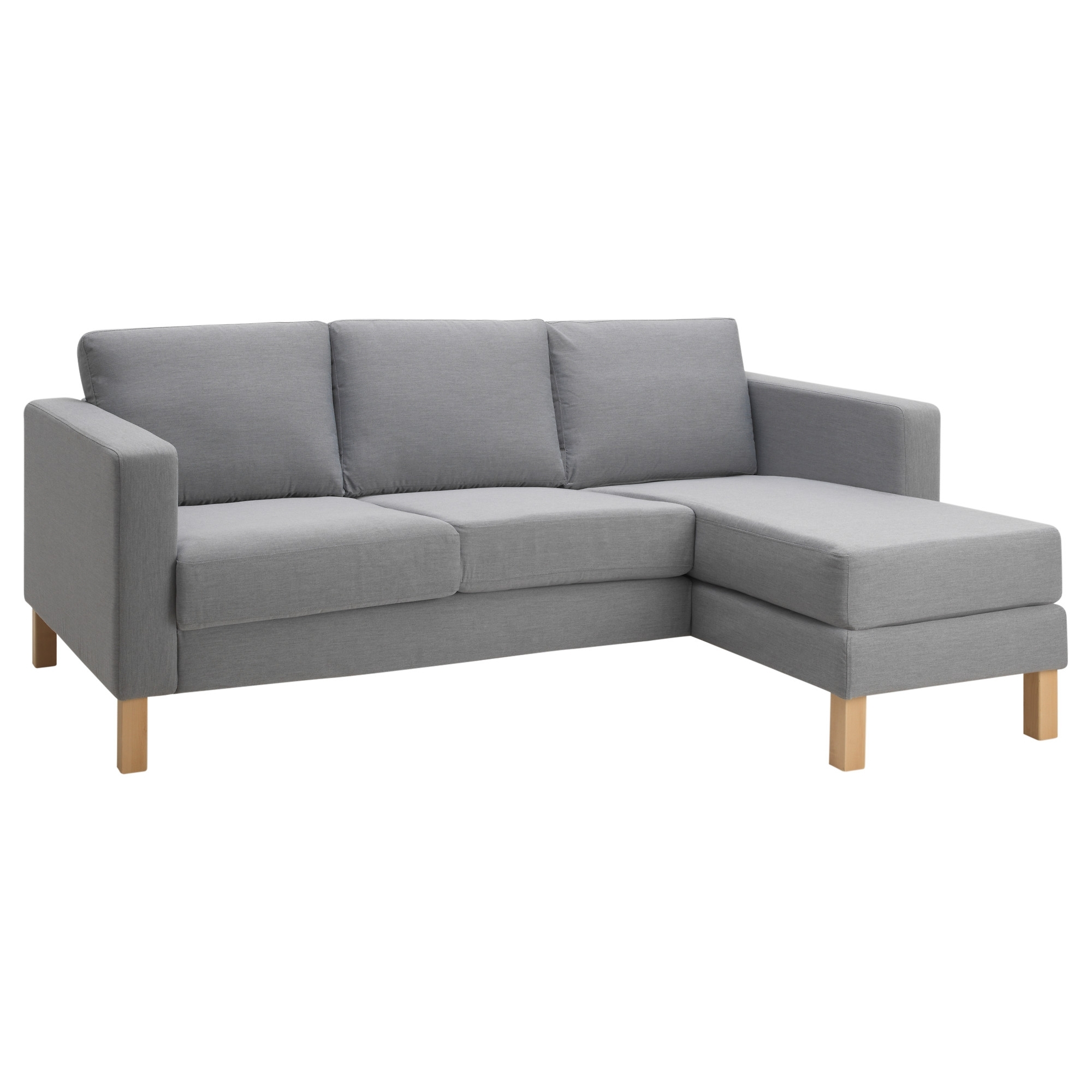 Preferred Karlstad Chaises In Karlstad Compact 2 Seat Sofa W Chaise Lounge – Isunda Grey – Ikea (View 15 of 15)