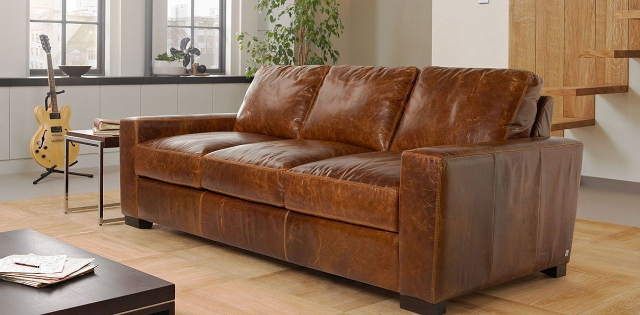 Preferred Lawrence 3 Seater Leather Sofa Sale Price £ (View 15 of 15)