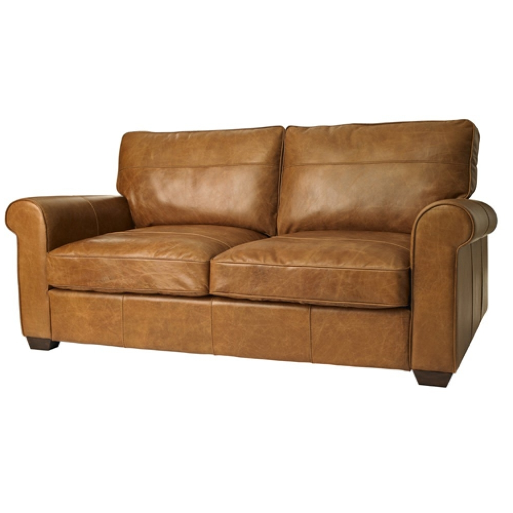 Preferred Light Tan Leather Sofas Intended For Hudson Sofa (View 6 of 15)