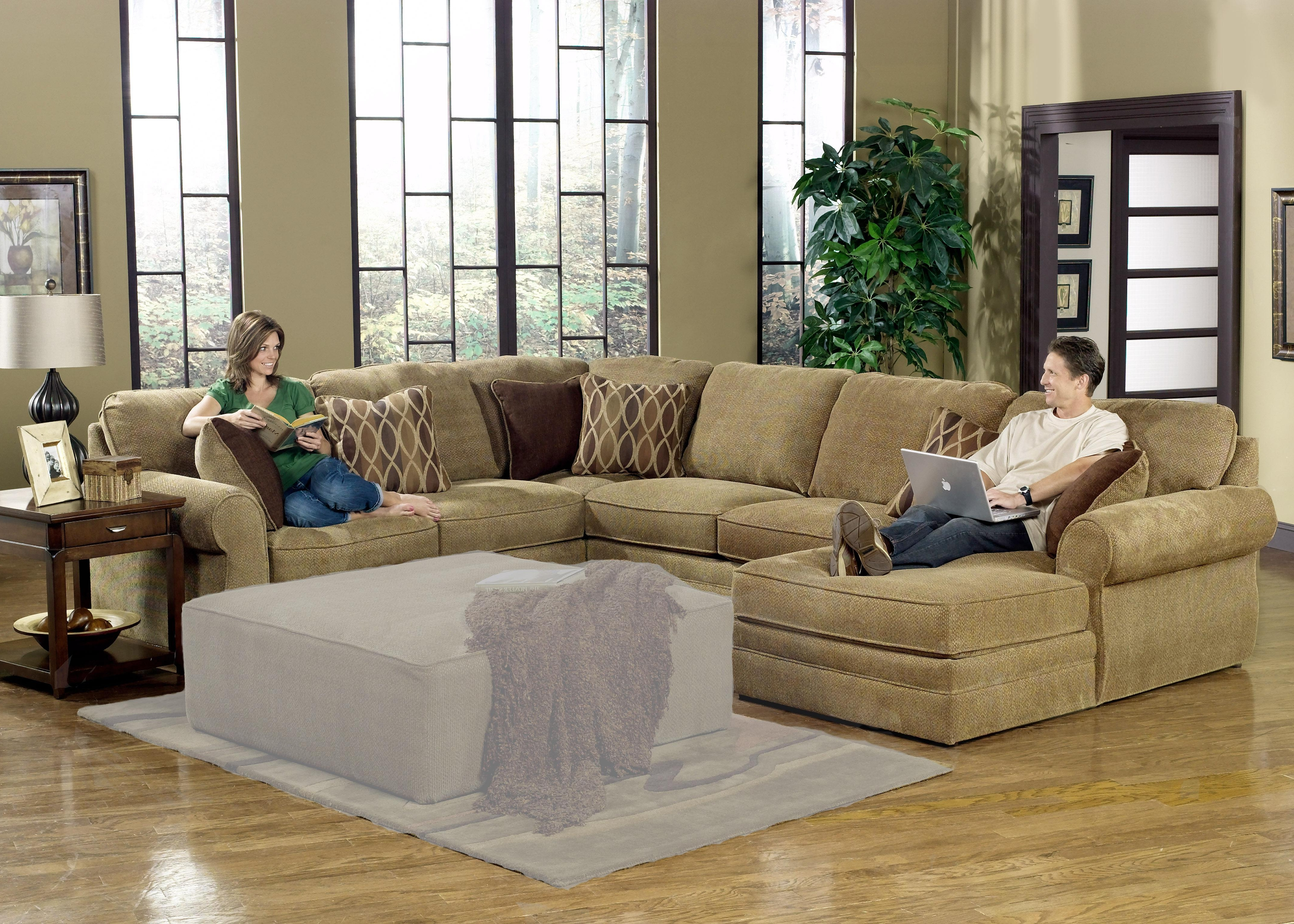 Preferred Long Couches With Chaise With Regard To Sectional Sofa Design: Adorable Large U Shaped Sectional Sofa (View 11 of 15)