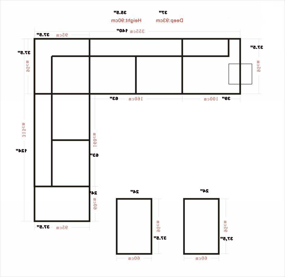 Preferred Measurements Sectional Sofas Pertaining To Awesome Modern Sectional Sofa Dimensions Images – Liltigertoo (View 4 of 15)
