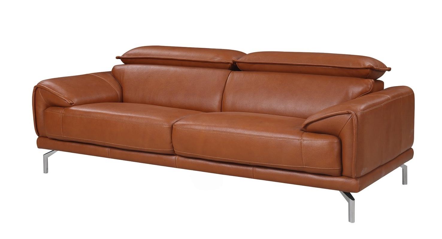 Preferred Mid Range Sofas Pertaining To Orren Ellis Tawny Mid Century Modern Top Grain Leather Sofa (View 12 of 15)