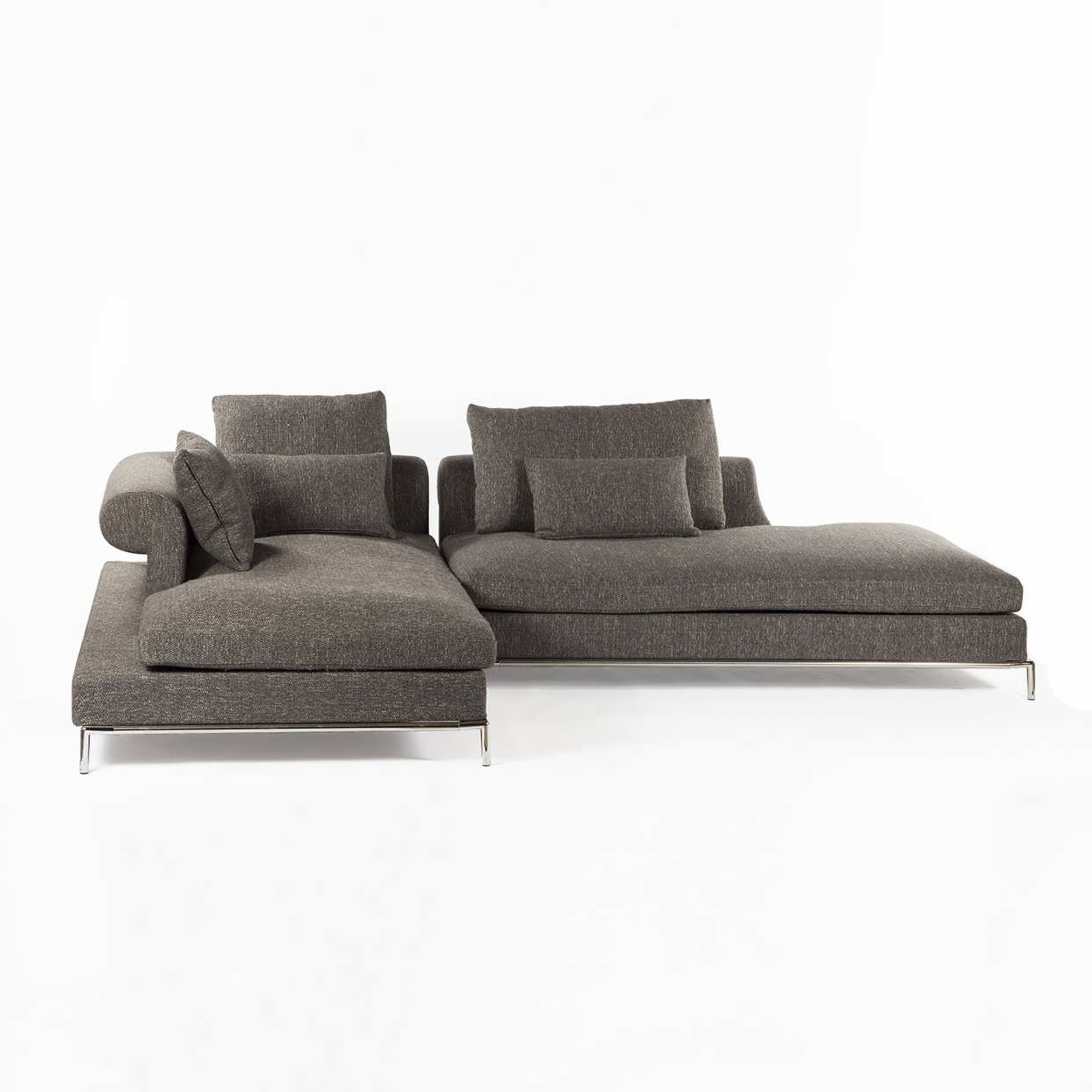 Preferred Modern Chaise Sofas Within Sofa : Large Sectional Sofas L Shaped Couch Leather Couch With (View 14 of 15)