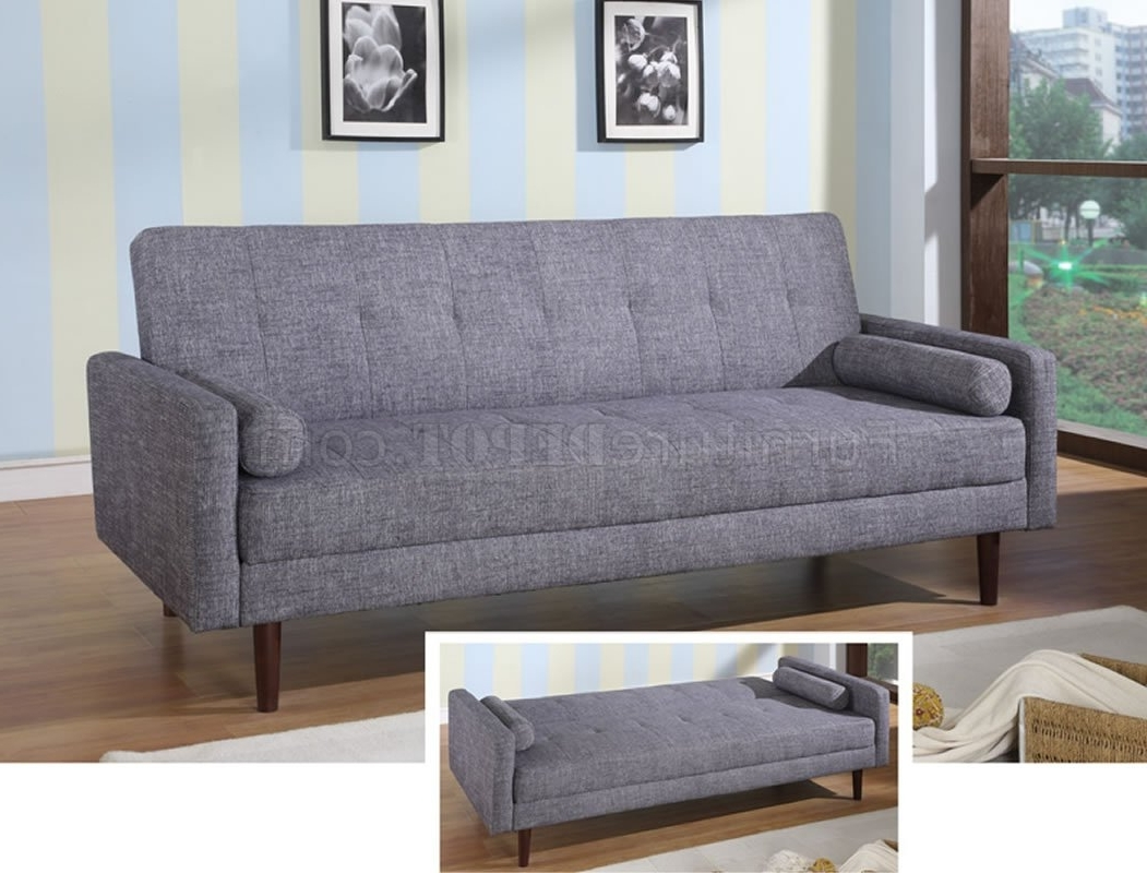 Preferred Modern Fabric Sofa Bed Convertible Kk18 Grey Inside Contemporary Fabric Sofas (View 13 of 15)