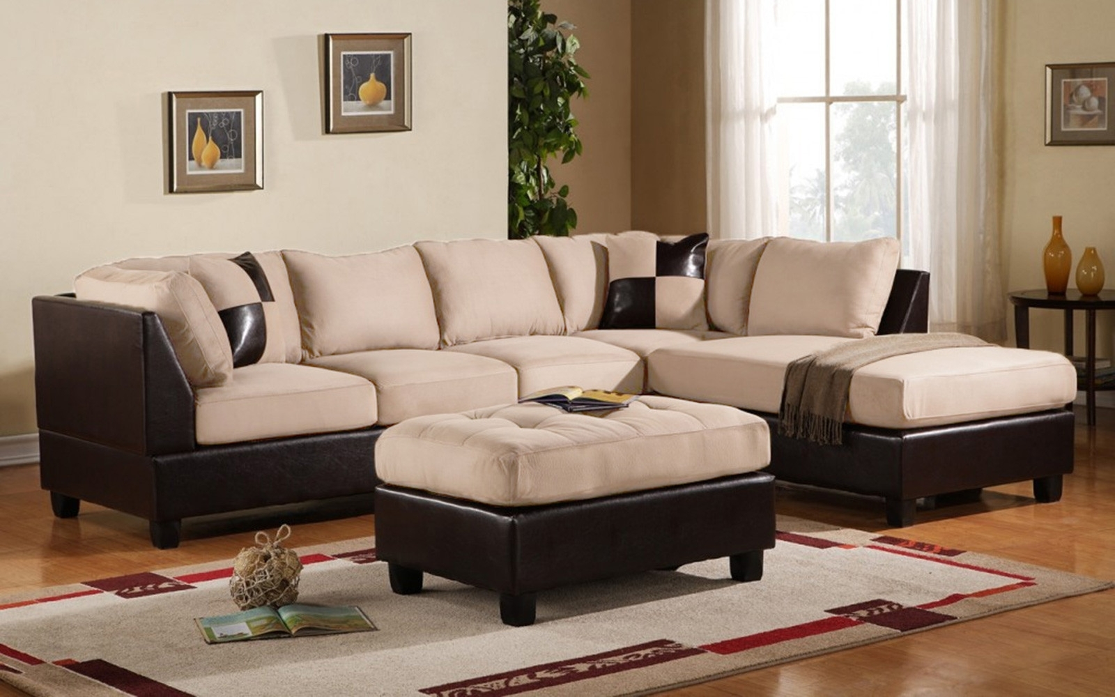Preferred Modern Microfiber Sectional Sofas Within Faux Suede Sectional Sofa – Home And Textiles (View 11 of 15)