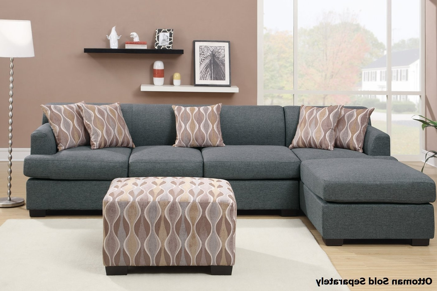 Preferred Montreal Sectional Sofas With Montreal Iii Grey Fabric Sectional Sofa – Steal A Sofa Furniture (View 5 of 15)