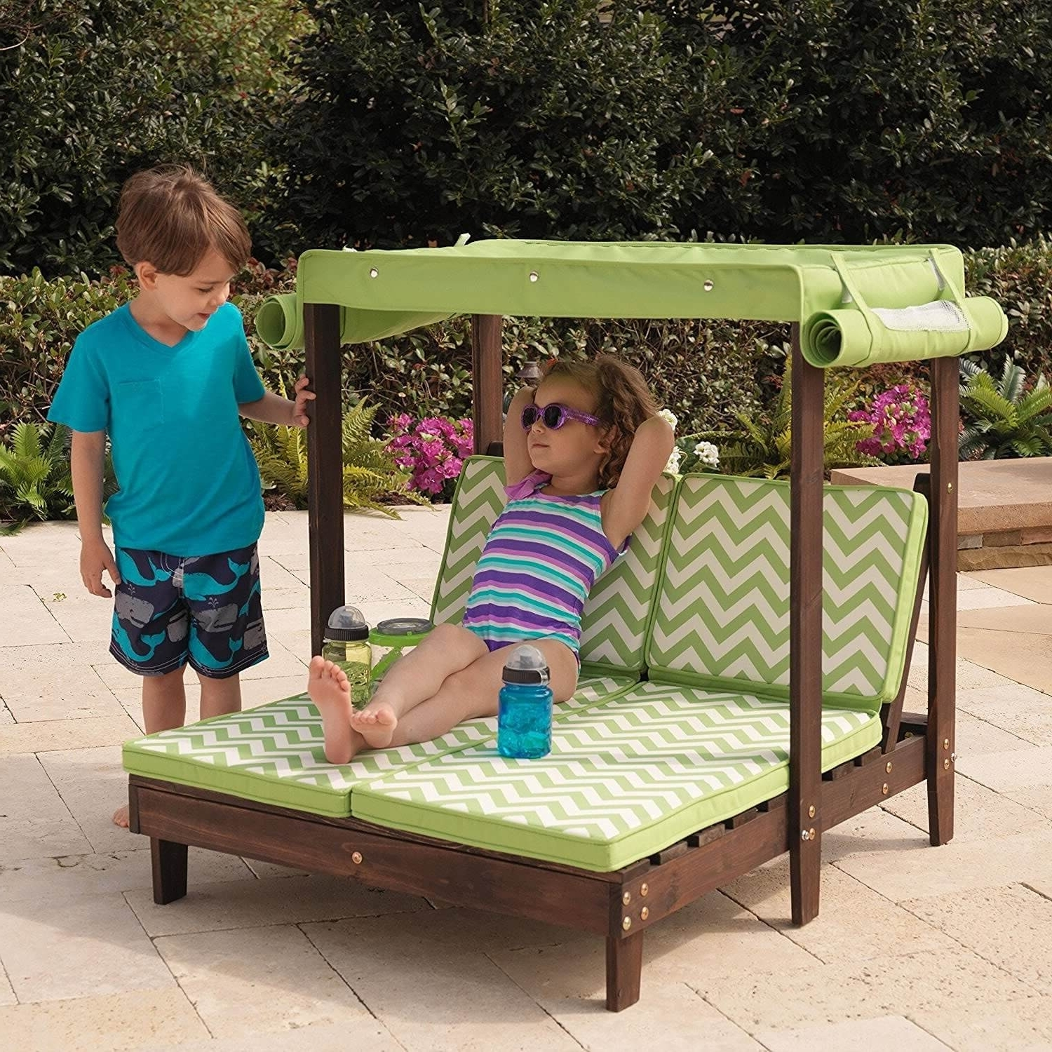 Preferred Outdoor : Folding Outdoor Lounge Chairs Outdoor Double Chaise With Regard To Children's Outdoor Chaise Lounge Chairs (View 13 of 15)