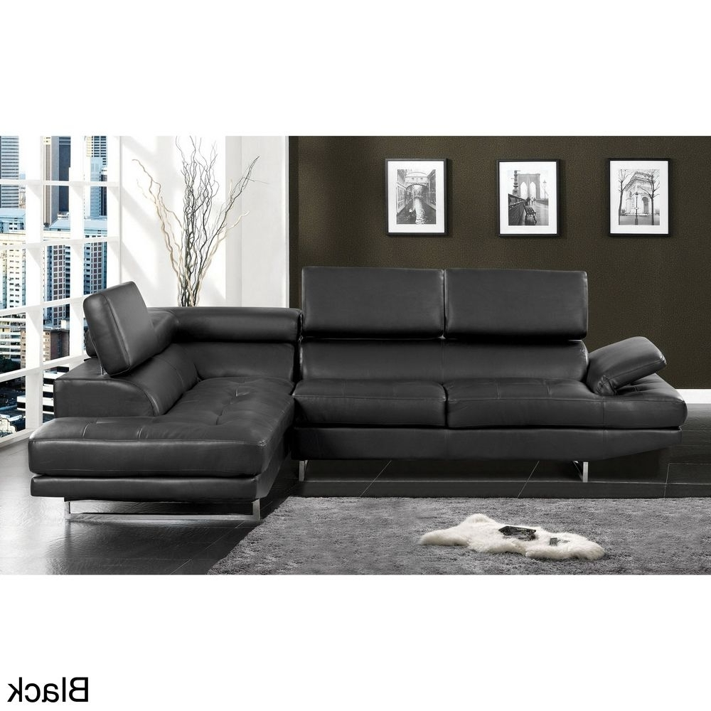 Preferred Overstock Sectional Sofas Within Contemporary 2 Piece Sectional With Adjustable Headrest (View 9 of 15)