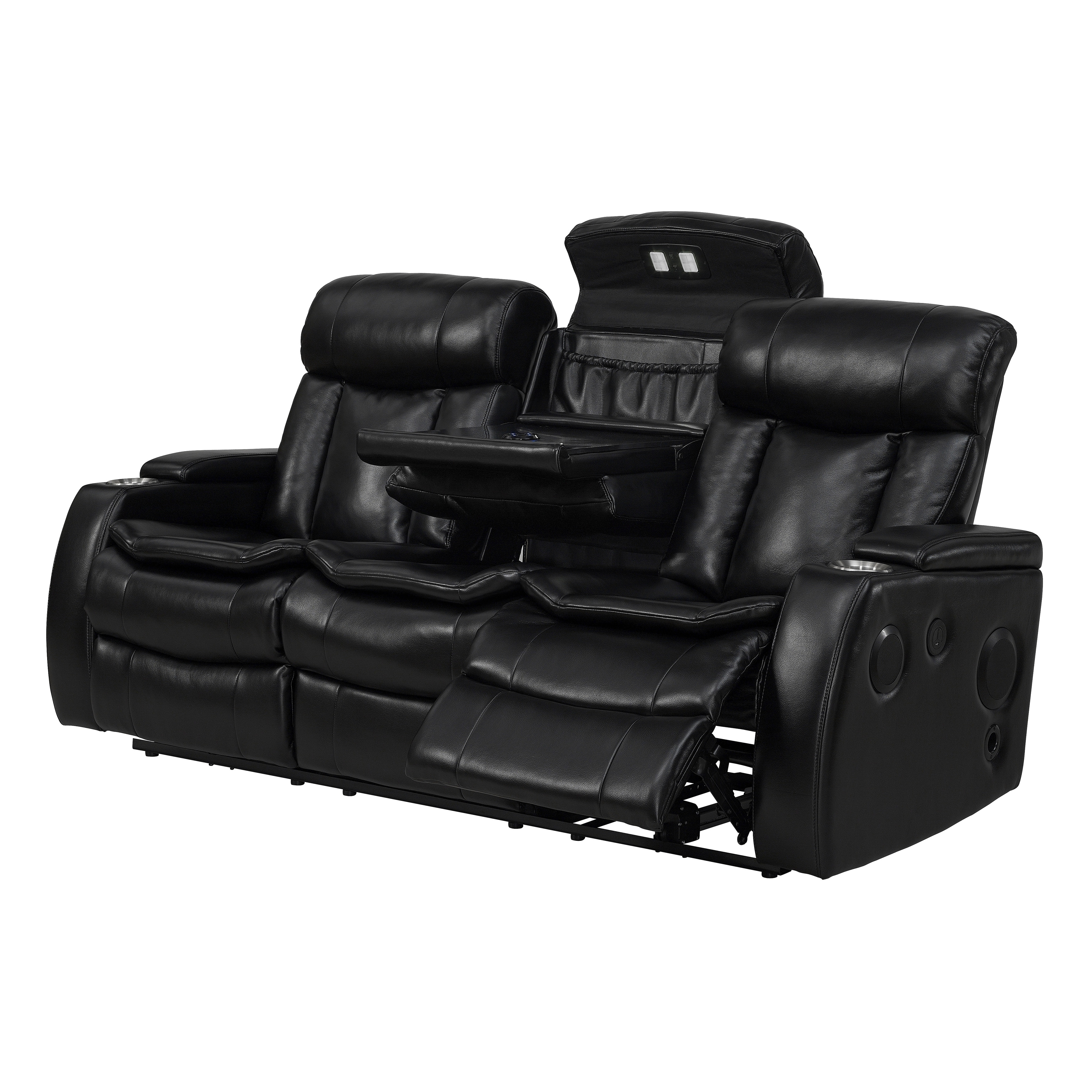Preferred Recliner Sofas With Bluetooth Black Power Recliner Sofa With Usb – Free Shipping Today (View 13 of 15)