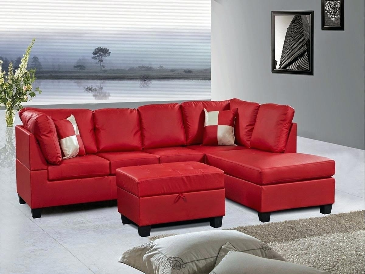 Preferred Red Sectional Couches Microfiber Sofa With Chaise Couch Cover For For Red Sectional Sofas With Ottoman (View 3 of 15)