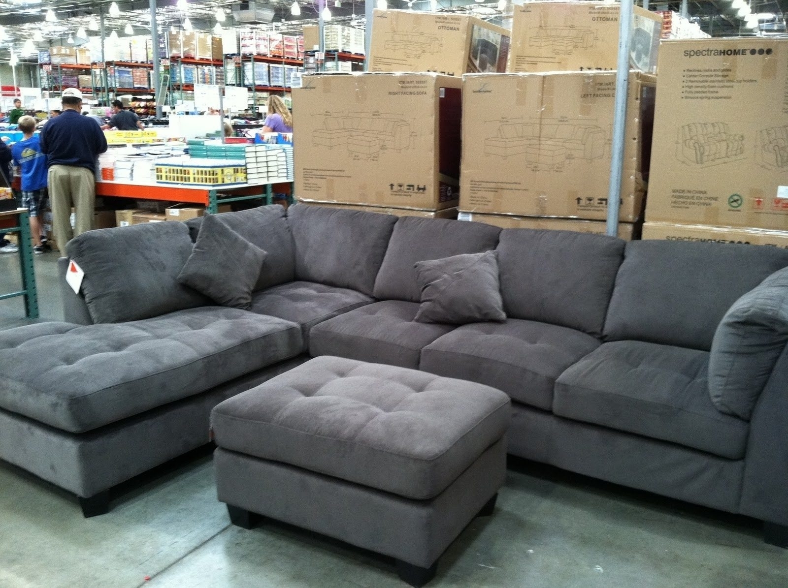 Preferred Sectional Sofas At Costco Intended For Gray Sectional Sofa Costco – Hotelsbacau (View 9 of 15)