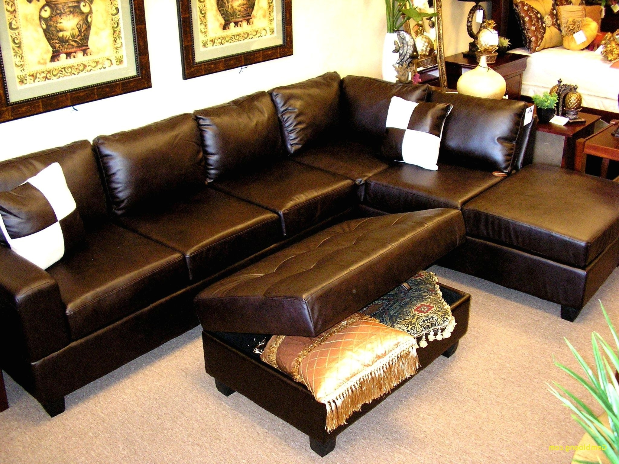 Preferred Sectional Sofas With Chaise Lounge And Ottoman Pertaining To Chaise Lounge With Ottoman Luxury Furniture Black Leather Tufted (View 7 of 15)