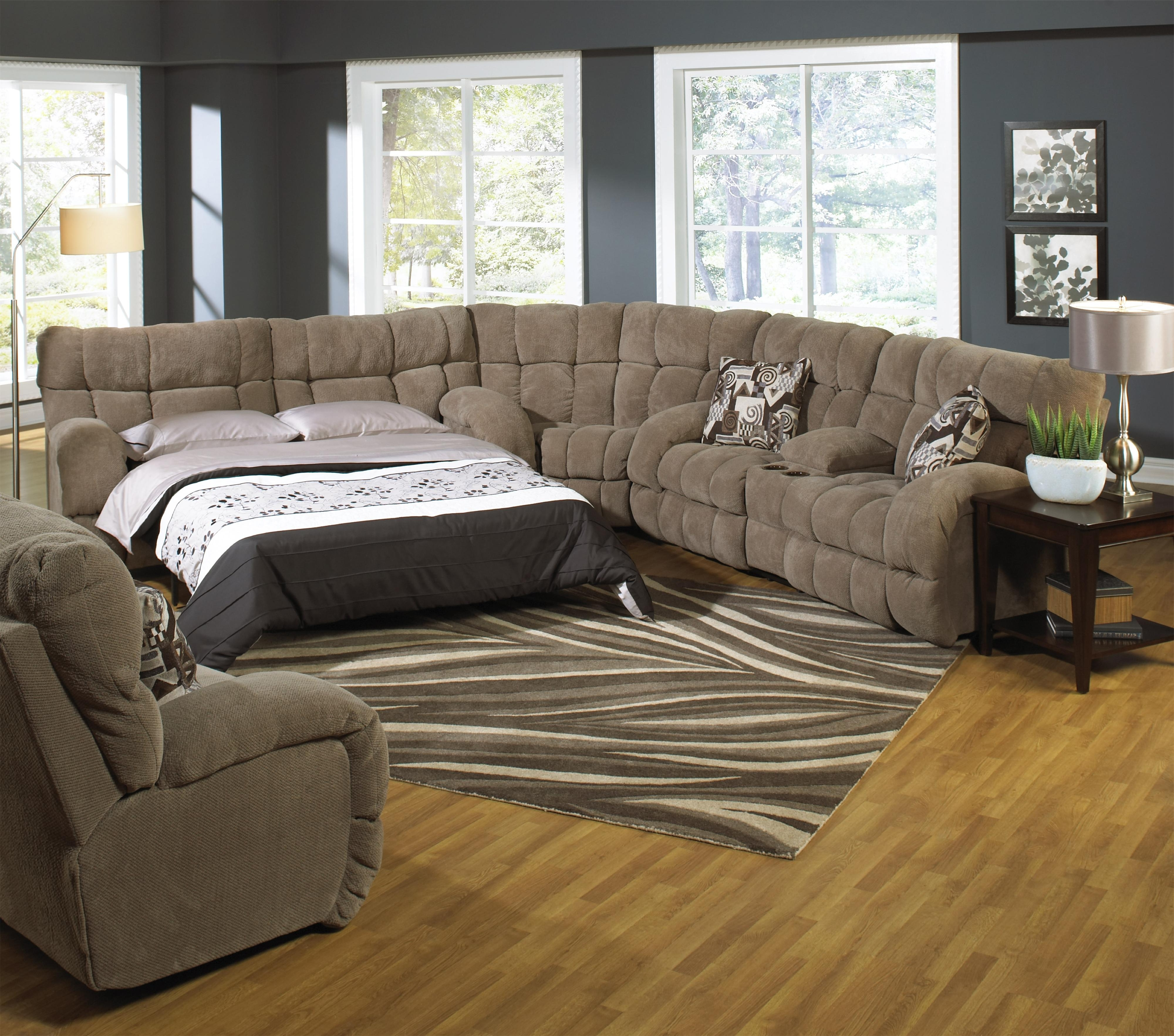 Preferred Sofas With Chaise And Recliner Within Reclining Sectional Sofa With Sofa Sleepercatnapper (View 9 of 15)