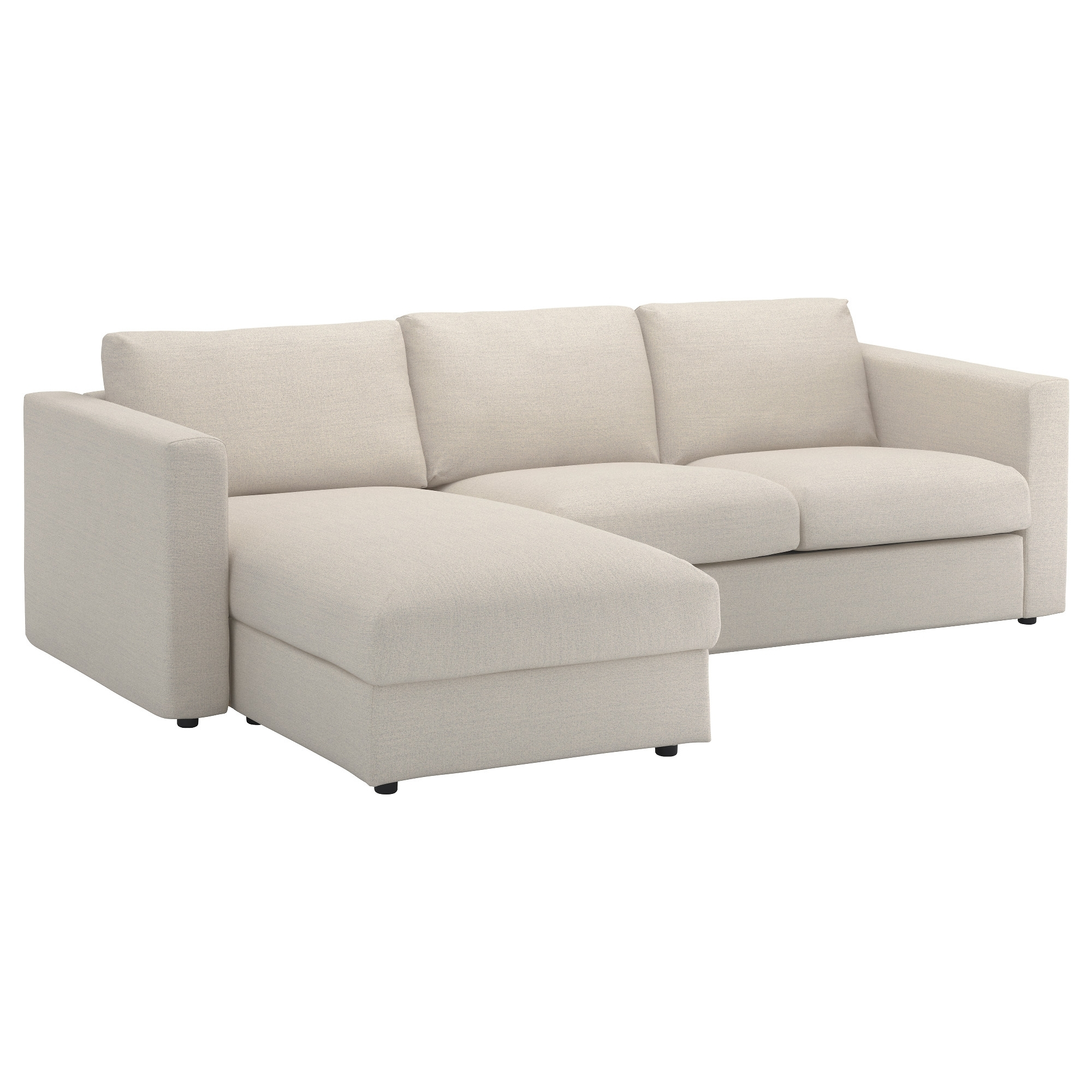 Preferred Sofas With Chaise Lounge Throughout Vimle Sofa – With Chaise/gunnared Beige – Ikea (View 8 of 15)