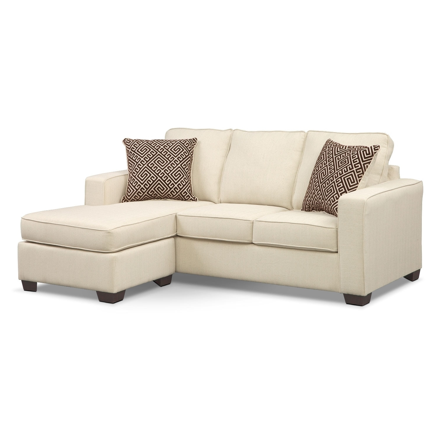 Preferred Sterling Innerspring Sleeper Sofa With Chaise – Beige (View 10 of 15)