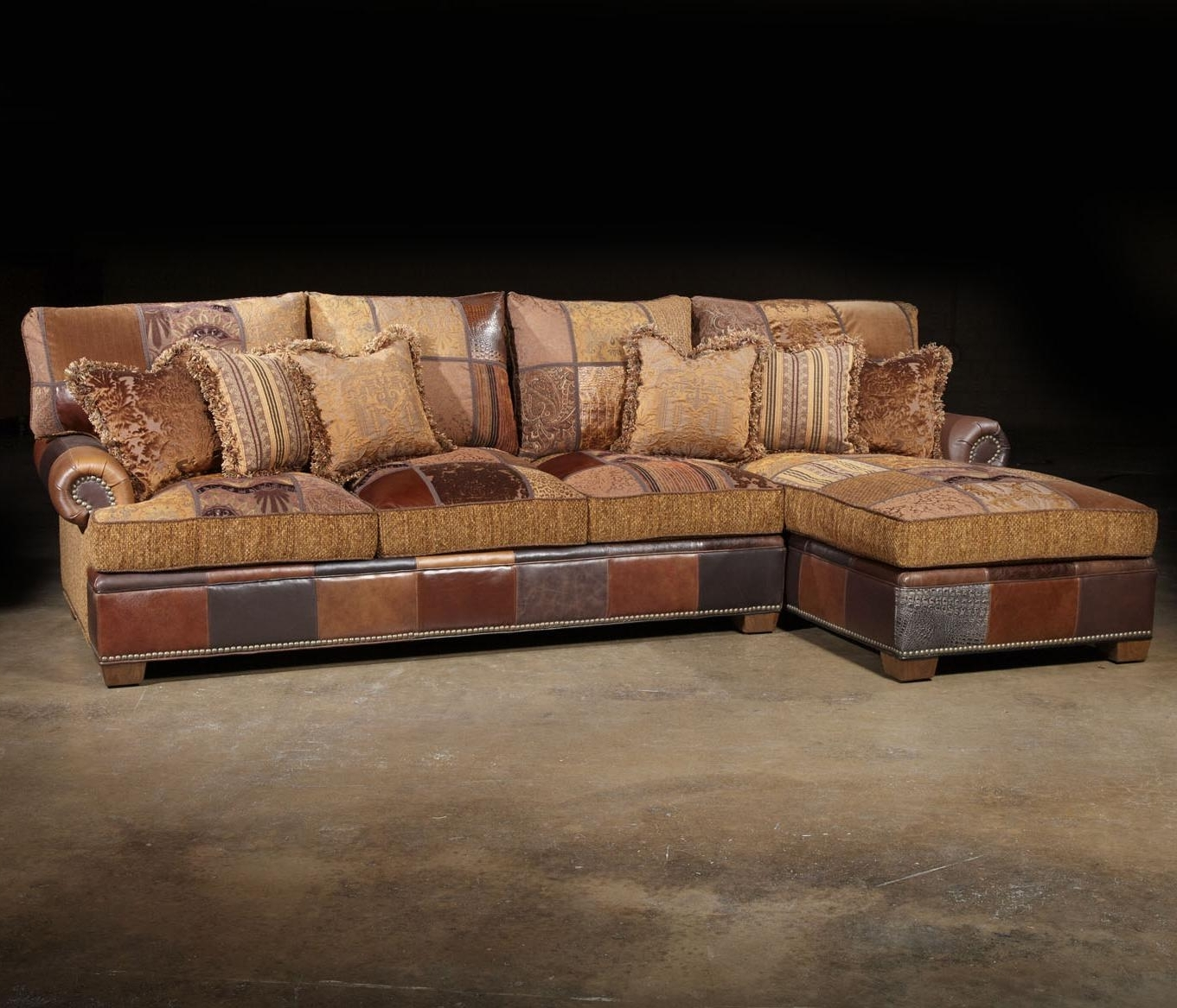 Preferred Unique Sectional Sofas With Paul Robert Choices Patched Western Sectional Sofa In Traditional (View 7 of 15)
