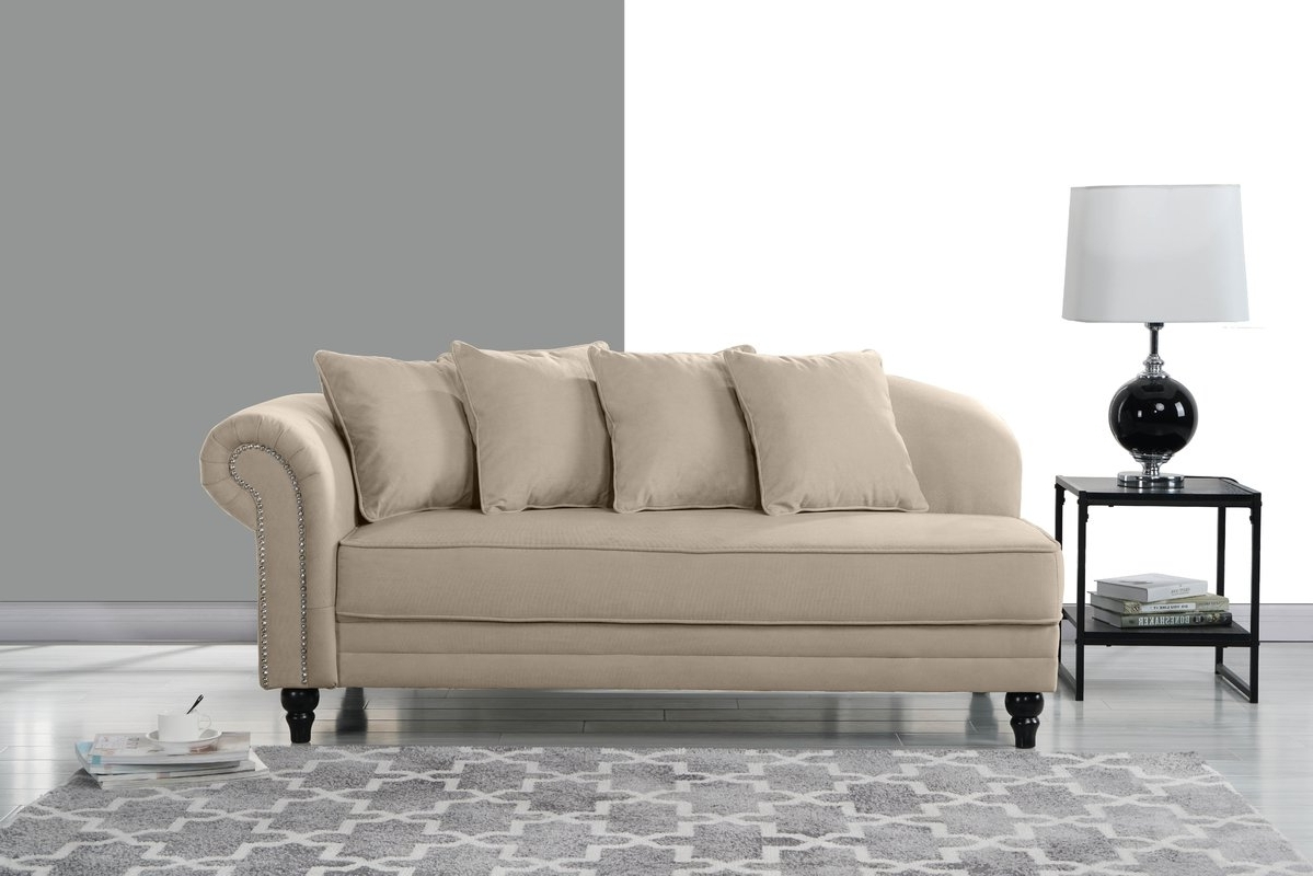 Preferred Upholstered Chaises Within House Of Hampton Hymes Velvet Upholstered Chaise Lounge & Reviews (View 5 of 15)