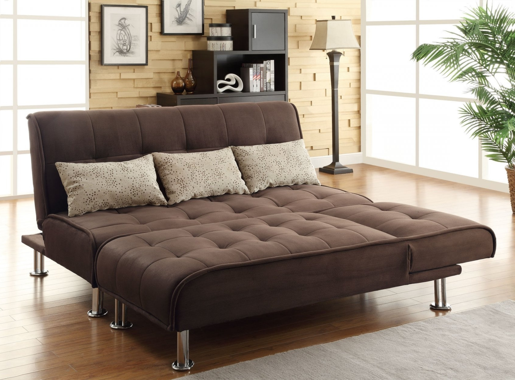 Queen Size Convertible Sofa Bed 46 About Remodel Pepperfry Regarding Latest Queen Size Sofas (View 9 of 15)