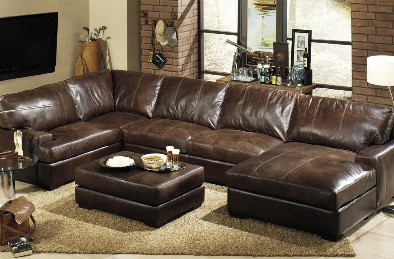 Quincy Il Sectional Sofas Intended For Most Current Furniture : Elegant Navy Leather Sofa 36 Sofa Table Ideas With (Gallery 3 of 15)