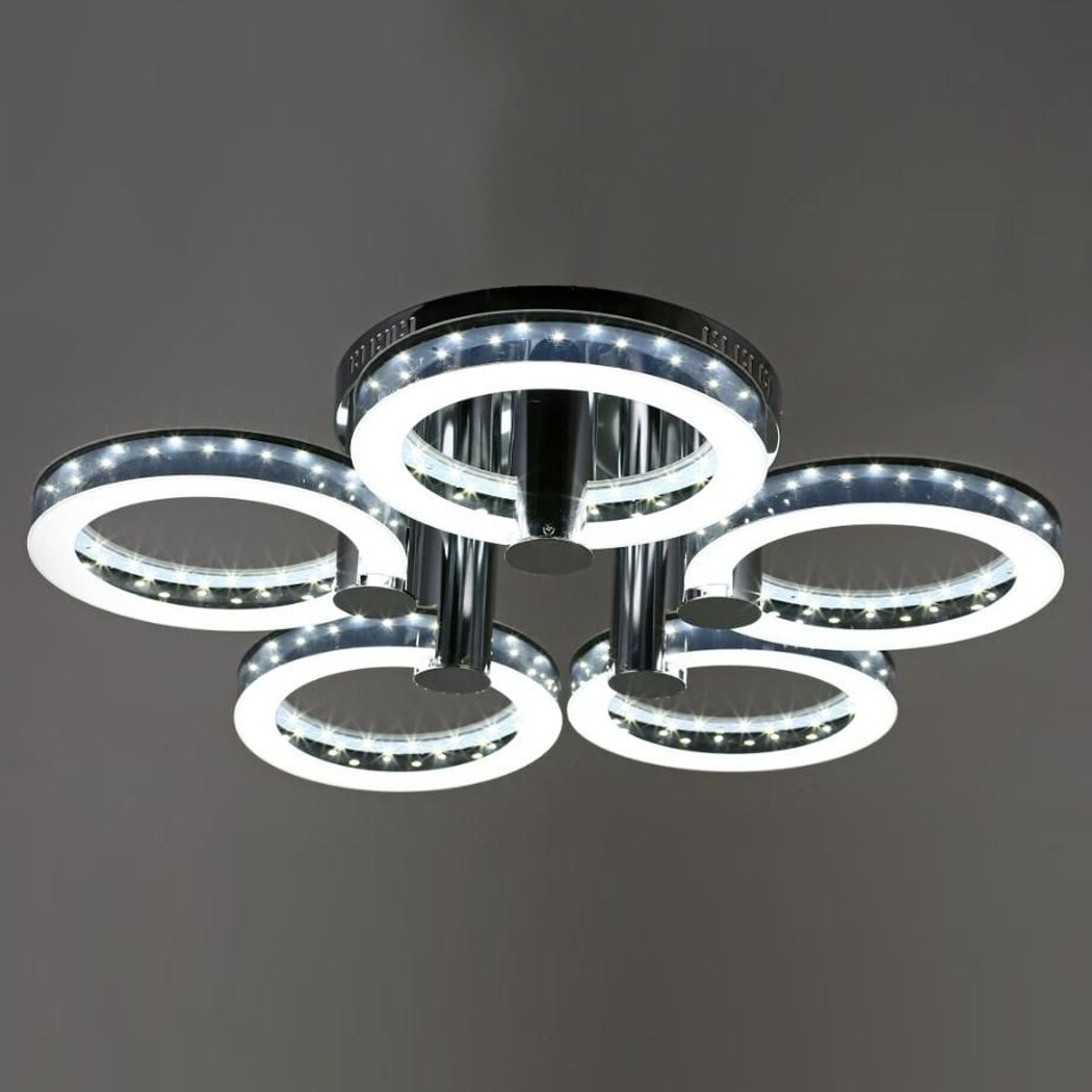 Rakuten: Led Acrylic Chandeliers Ceiling Light Lamp With  (View 14 of 15)