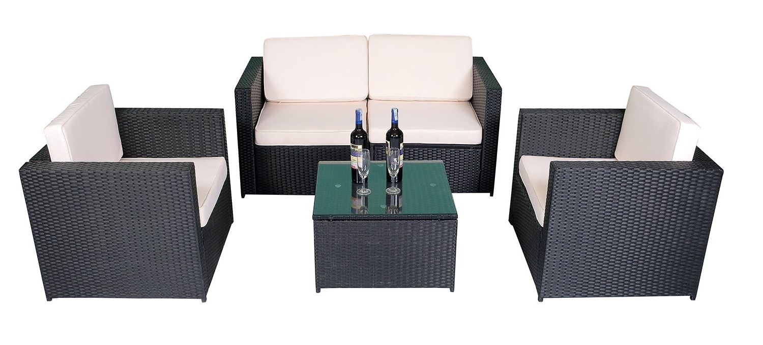 Rakuten: Mcombo 5Pcs Black Wicker Patio Sectional Outdoor (View 11 of 15)