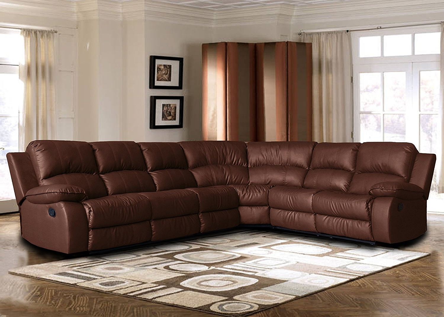 Recent Amazon: Large Classic Sofa – Sectional – Traditional – Bonded Throughout Sectional Sofas At Ebay (View 10 of 15)