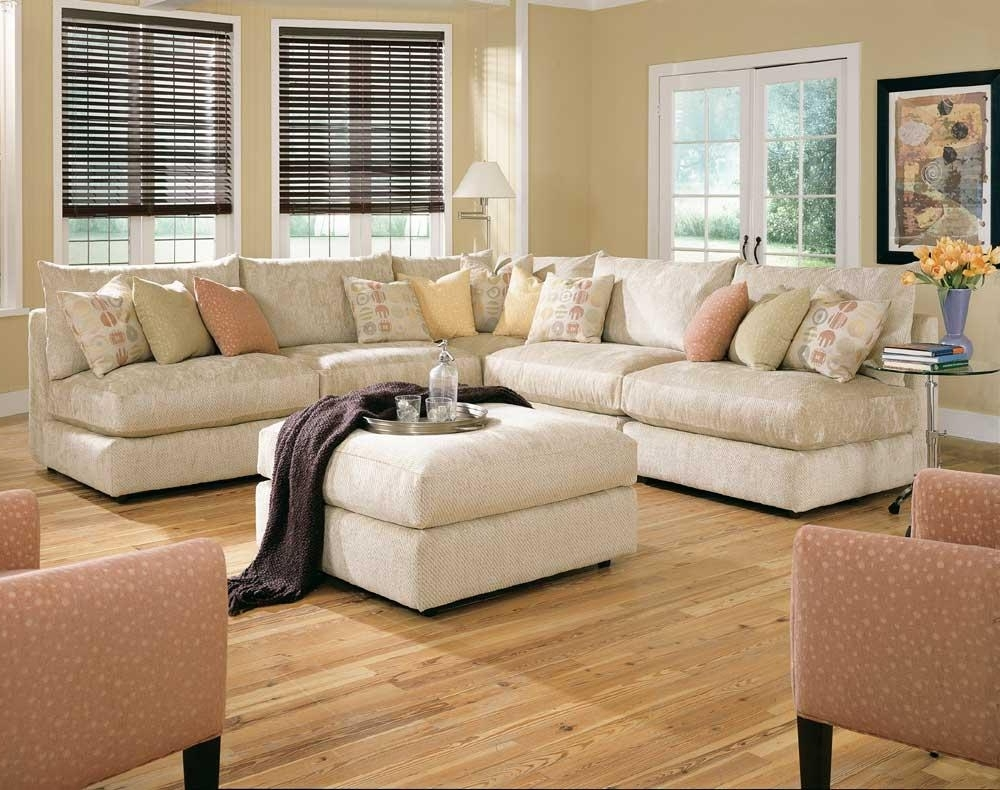 Recent Armless Sectional Sofas In Rowe Tempo Six Piece Armless Sectional Sofa With Ottoman – Ahfa (View 13 of 15)