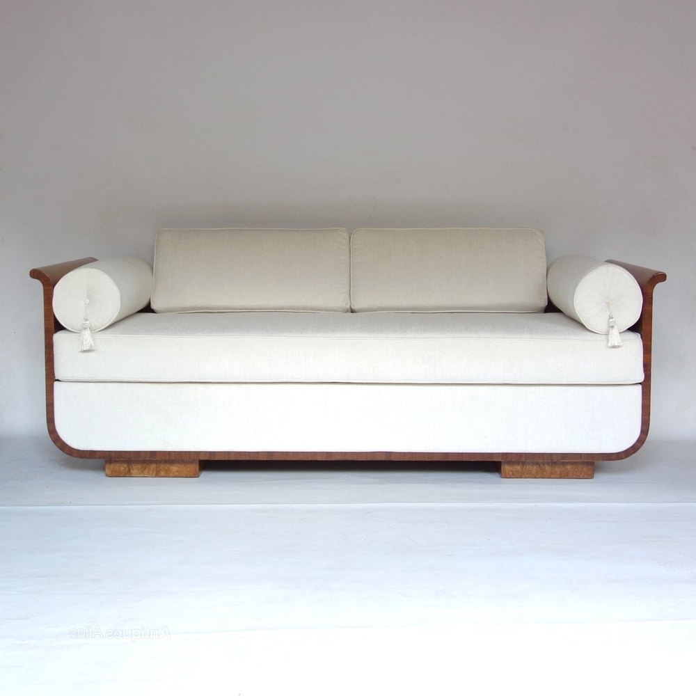 Recent Art Deco Daybed Sofa Czech Jindrich Halabala 1930S – Antiques Throughout Art Deco Sofas (View 13 of 15)