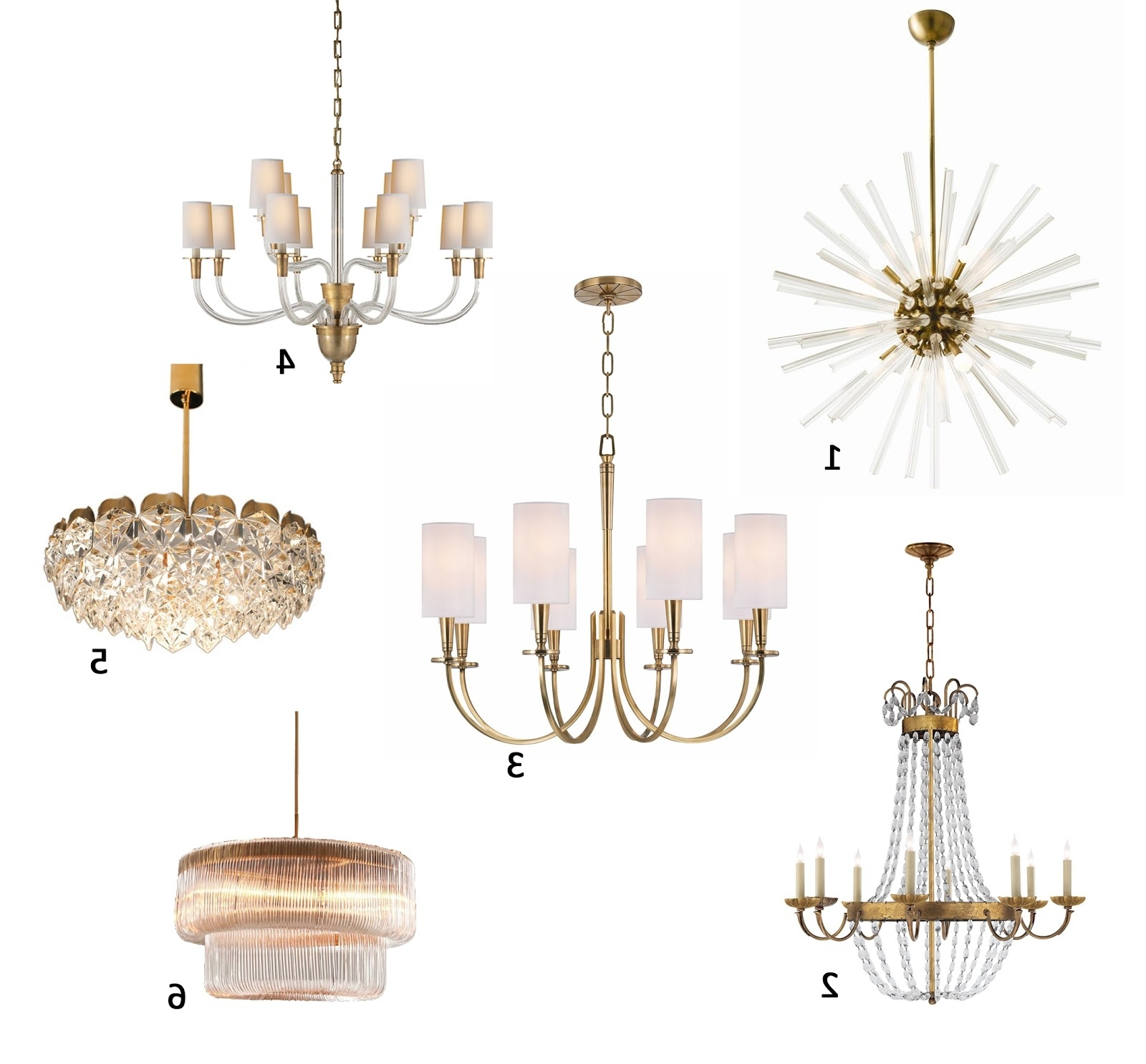 Recent Brass Chandeliers Regarding Am Dolce Vita: A Roundup Of My Favourite Brass Chandeliers (View 13 of 15)