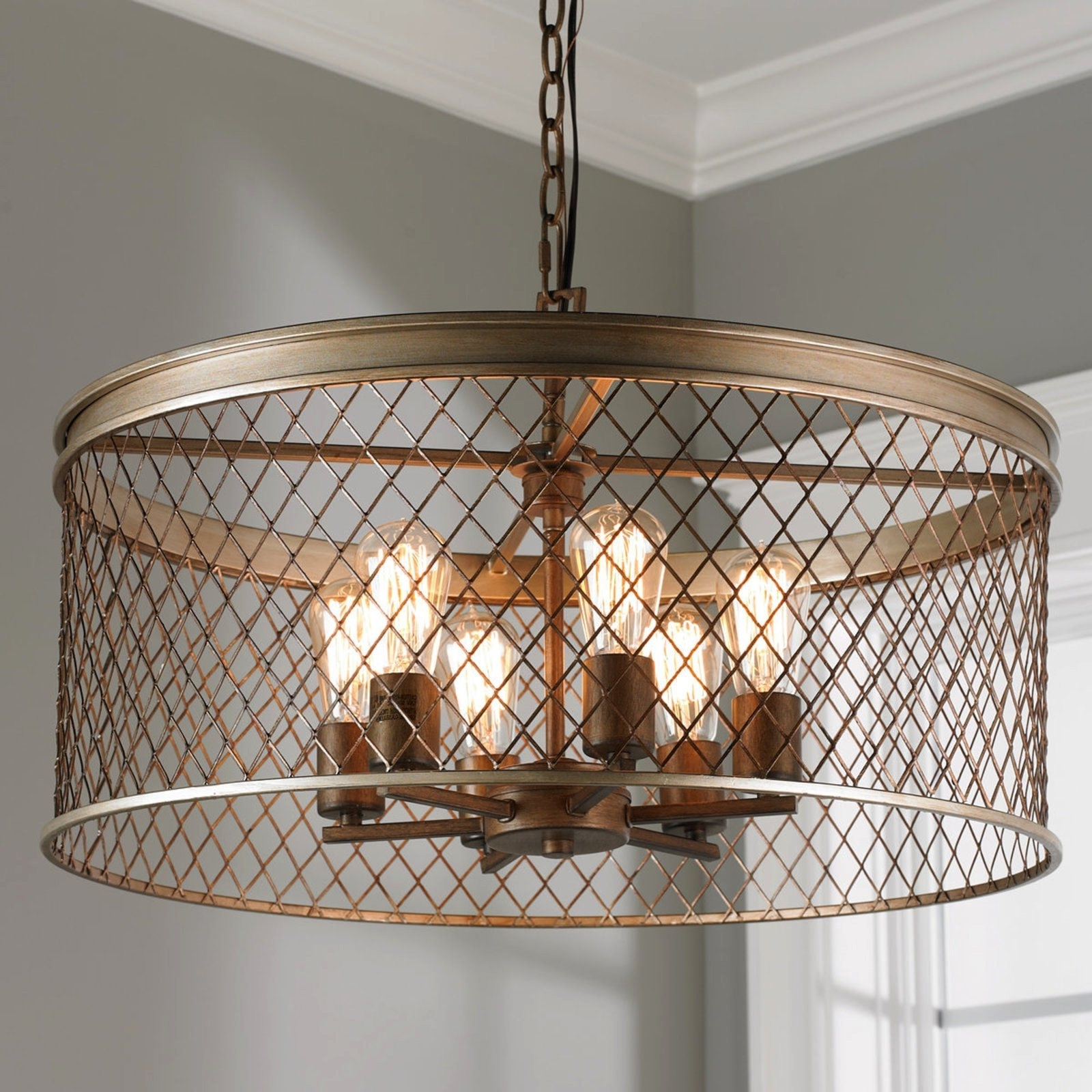 Recent Caged Chandelier For Cage Light Chandelier (View 12 of 15)