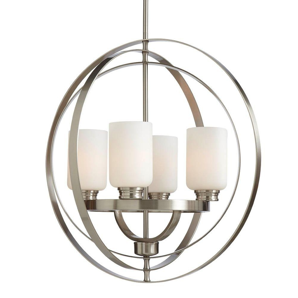 Recent Caged Chandelier With Cage – Chandeliers – Lighting – The Home Depot (View 13 of 15)
