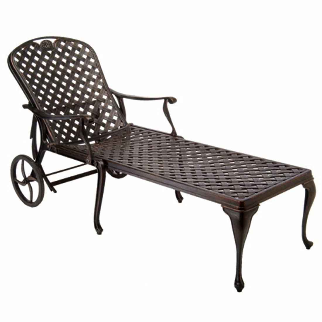 Recent Cast Aluminum Chaise Lounges With Wheels With Regard To Provance Metal Chaise Lounge Chairs (View 13 of 15)
