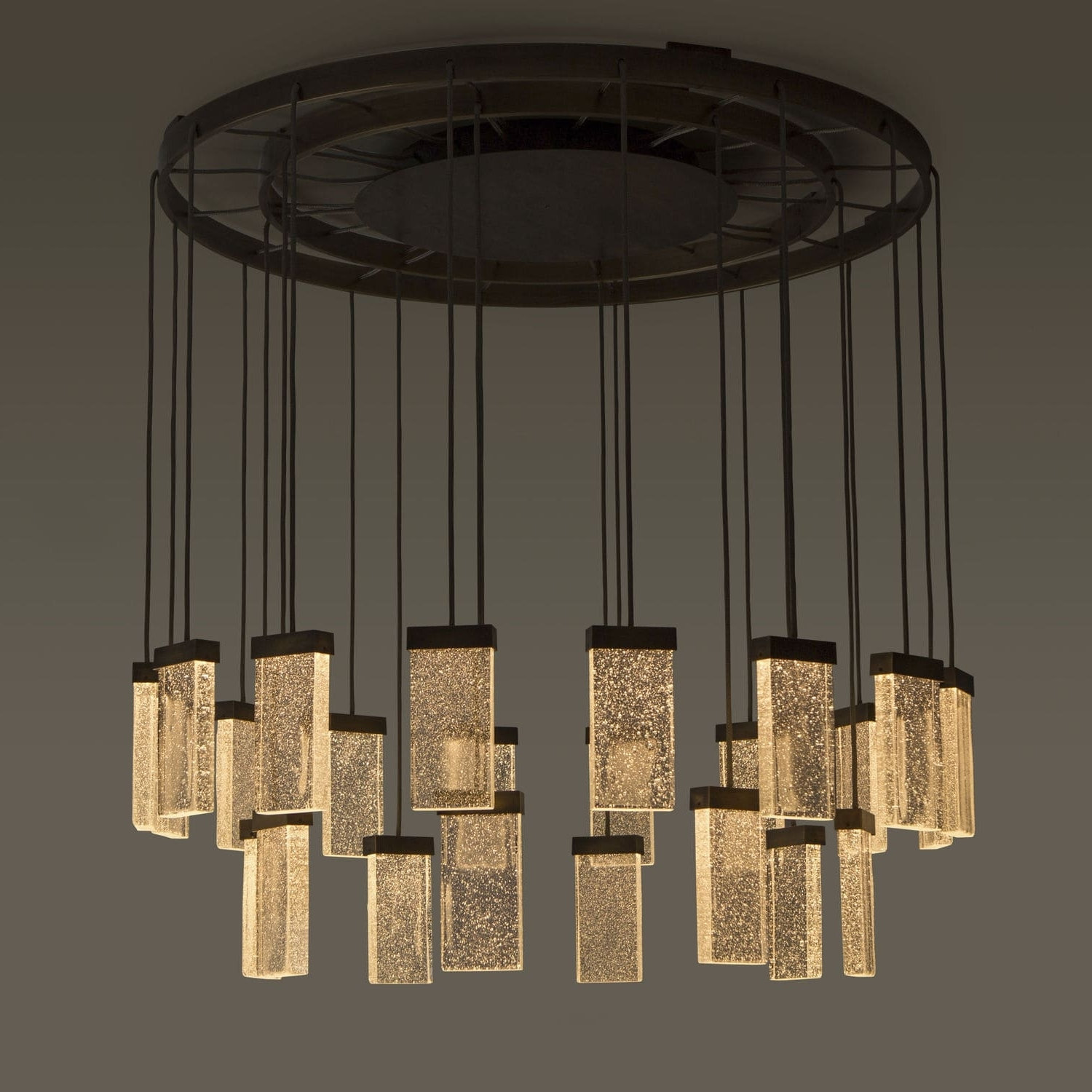 Recent Contemporary Chandelier With Contemporary Chandelier / Glass / Aluminum / Led – 24 Grand Cru (View 13 of 15)
