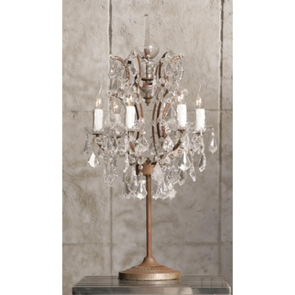 Recent Crystal Table Chandeliers With Regard To Crystal Table Lamp : Riothorseroyale Homes – Decorative Chandelier (View 1 of 15)