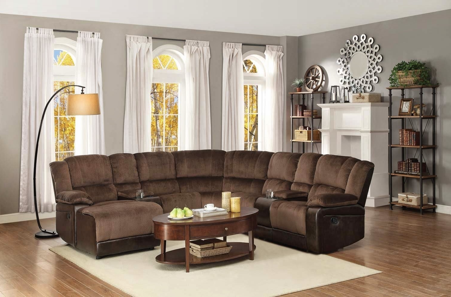 Recent Curved Sectional Sofas With Recliner In Leather Sectional Sofa With Power Recliner Sectionals Sofas Softy (View 11 of 15)