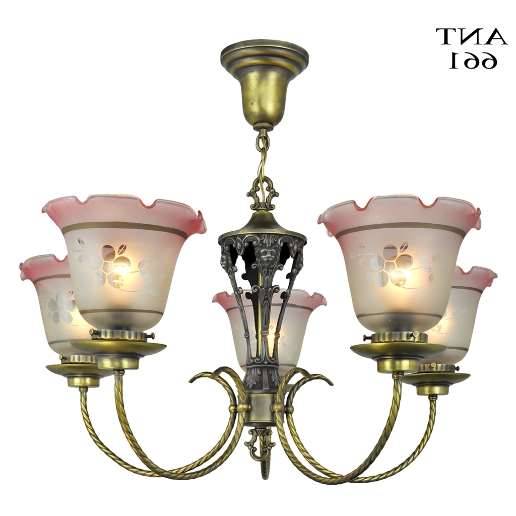 Recent Edwardian Chandelier With Edwardian Chandelier 5 Arm Ceiling Light Fixture Circa 1920 Lighting (View 11 of 15)