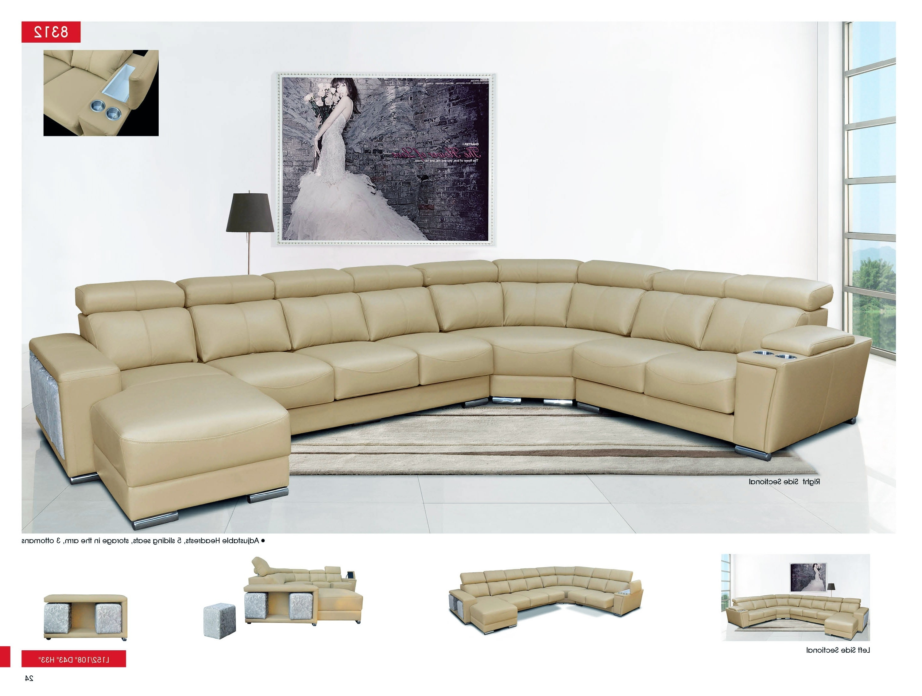 Recent Esf 8312 Sectional Sofa With Sliding Seats (View 5 of 15)