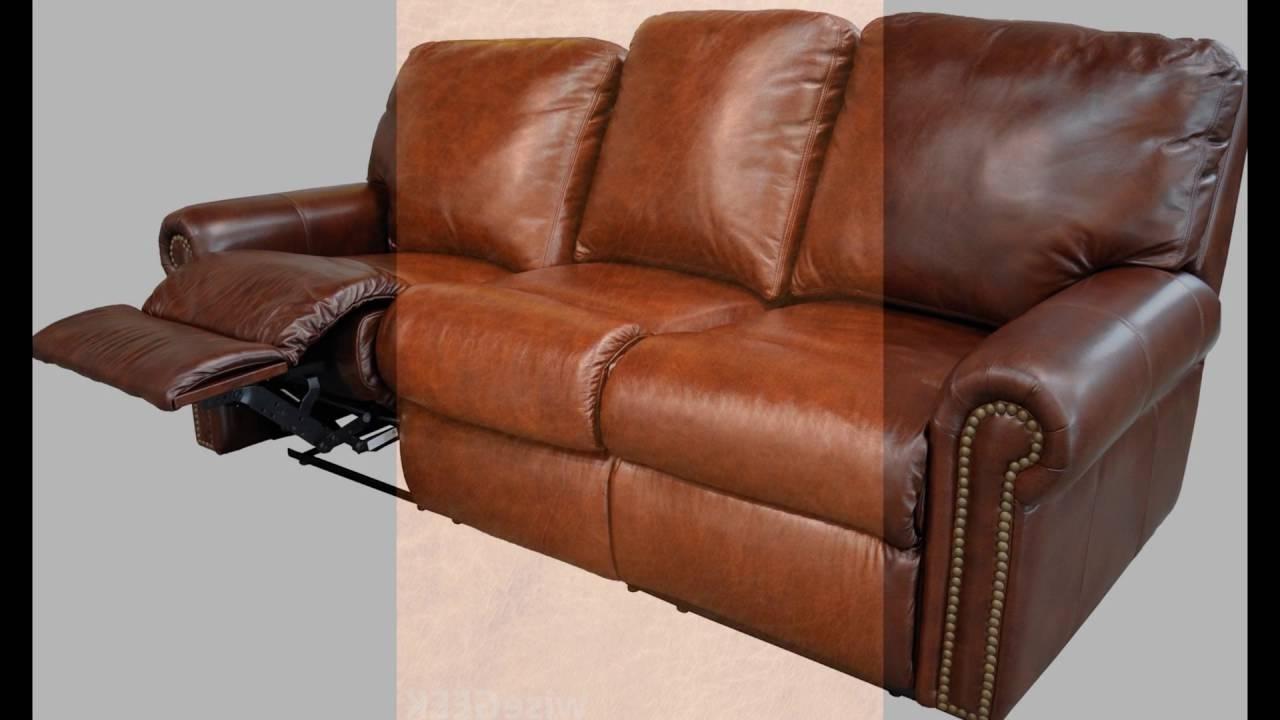 Recent Full Grain Leather Sofas Regarding Full Grain Leather Recliner – Youtube (View 8 of 15)