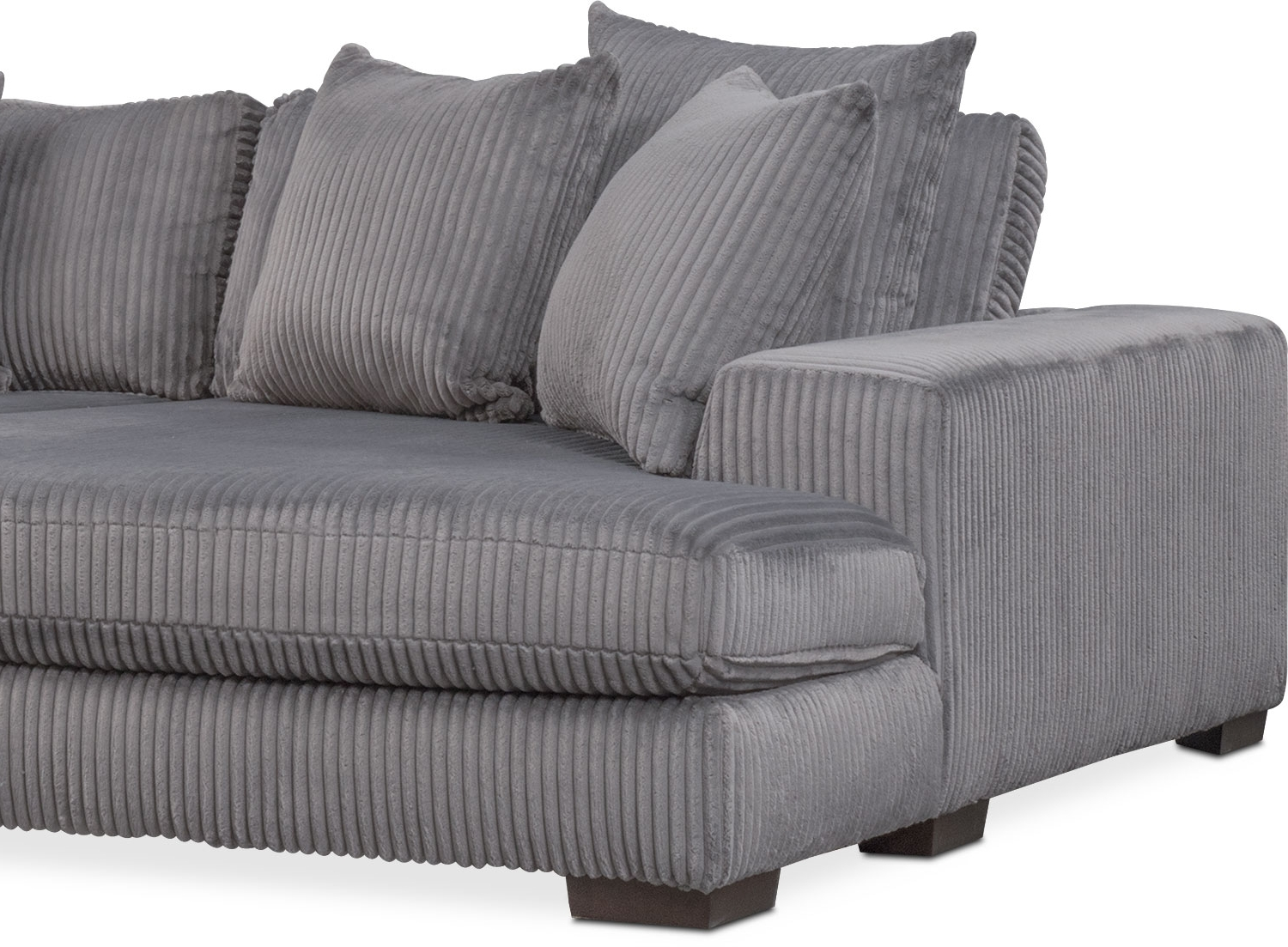 Recent Gray Chaises In Lounge 2 Piece Sectional With Double Chaise – Gray (View 14 of 15)