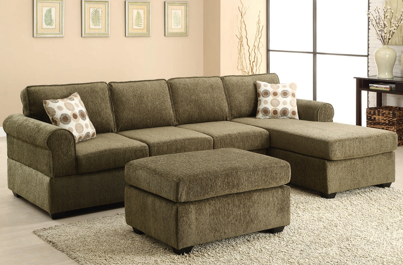 Recent Green Sectional Sofas Within The Jensen Tarragon Reversible Sectional Sofa In Sage Green (View 4 of 15)