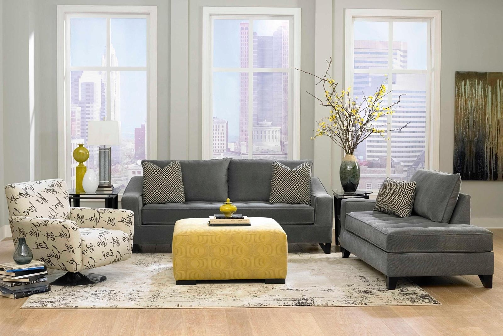 Recent Grey Living Room Gray Furniture Ideas Laminate Wooden Flooring For The Bay Sectional Sofas (View 9 of 15)