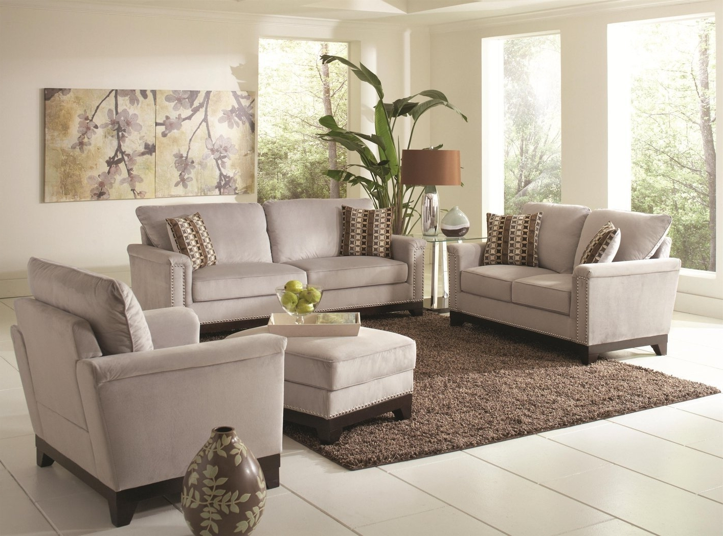 Recent Grey Sofa Chairs In Mason Grey Fabric Sofa – Steal A Sofa Furniture Outlet Los Angeles Ca (View 13 of 15)