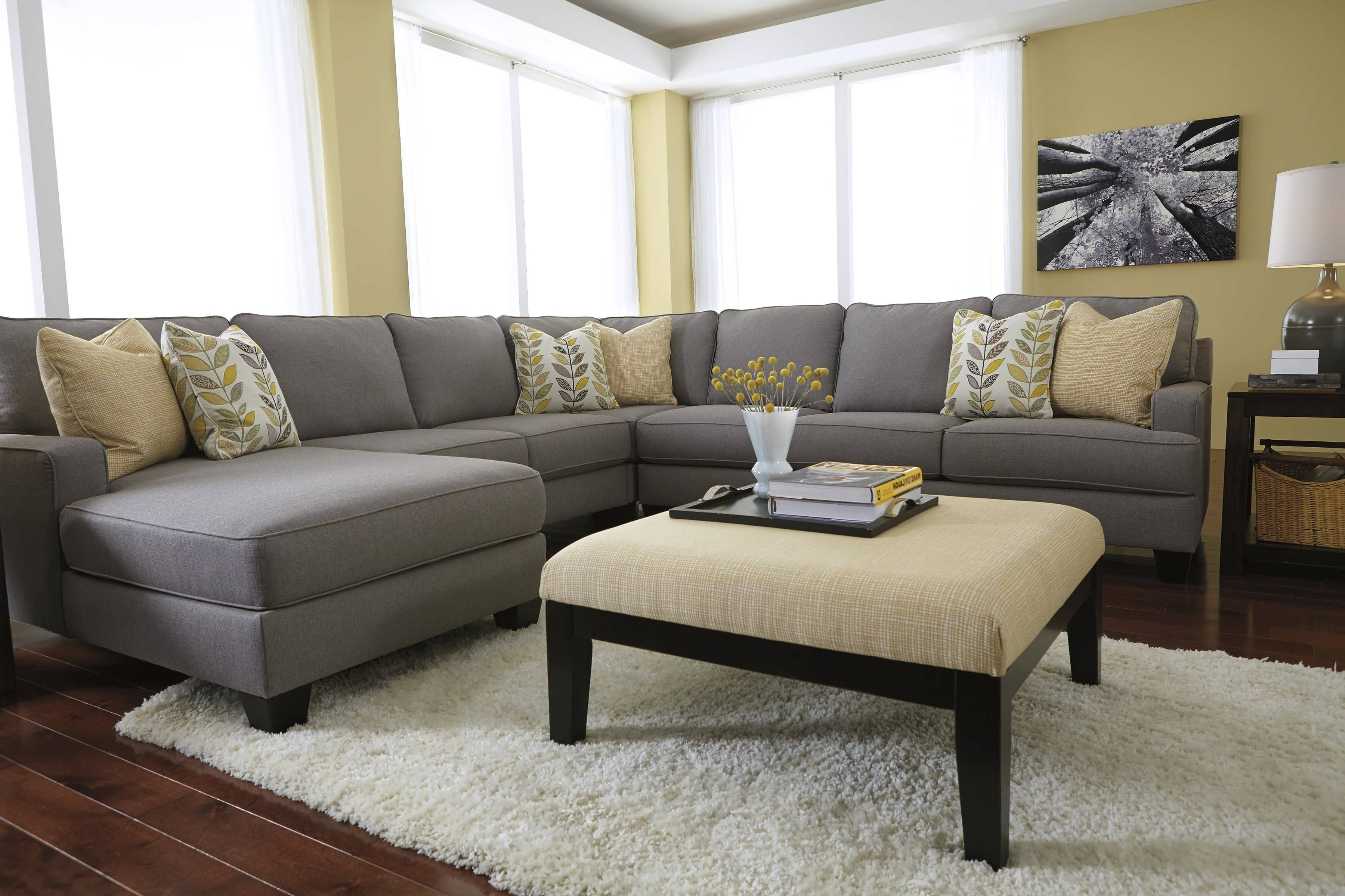 Recent L Shaped Sectionals With Chaise Within Sofa : Living Room Sectionals Grey Couch With Chaise Oversized (View 13 of 15)