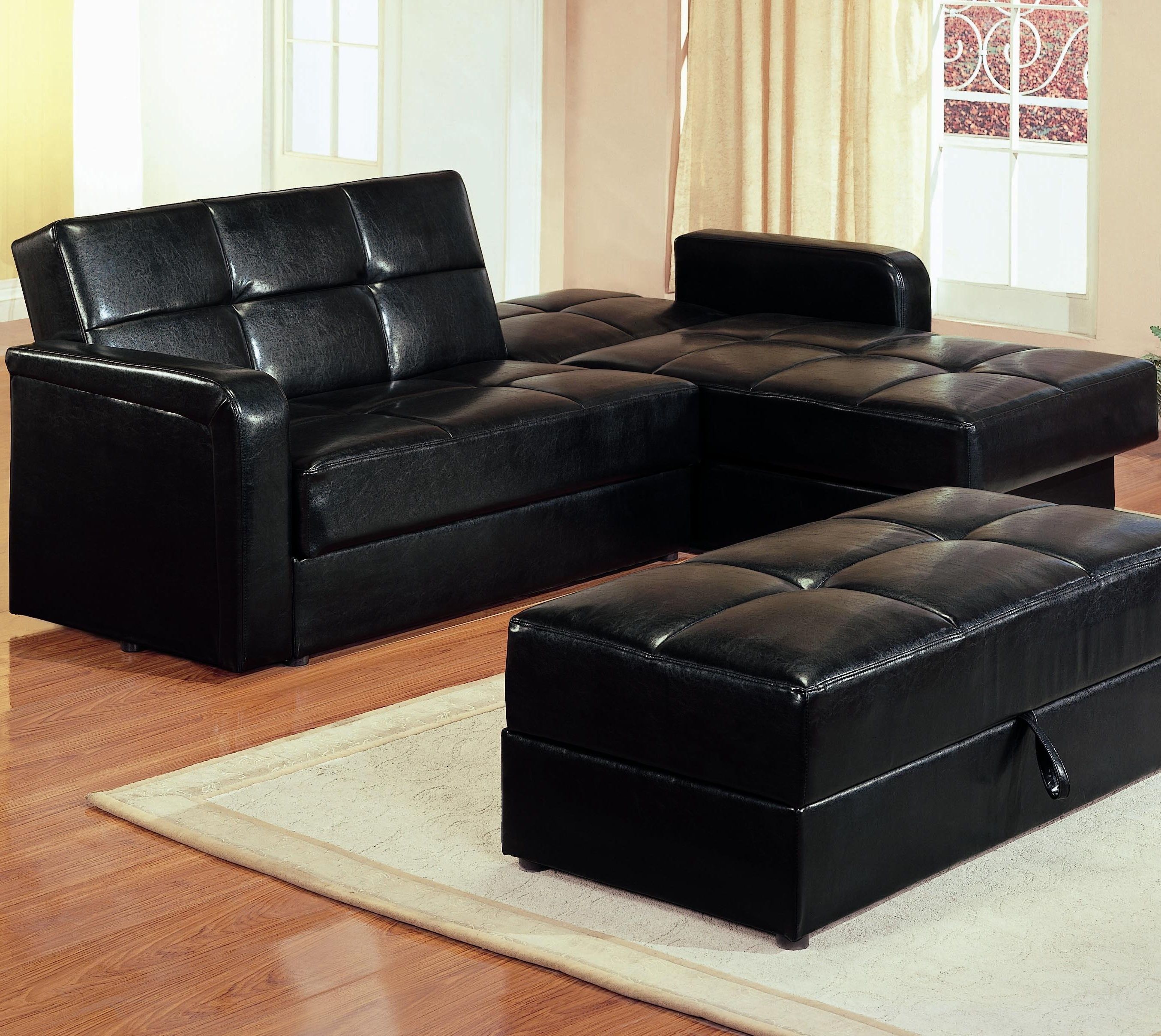 Recent Leather Sofas With Storage With Regard To Ikea Sleeper Sectional Couch With Storage And Bed Click Clack Sofa (View 12 of 15)