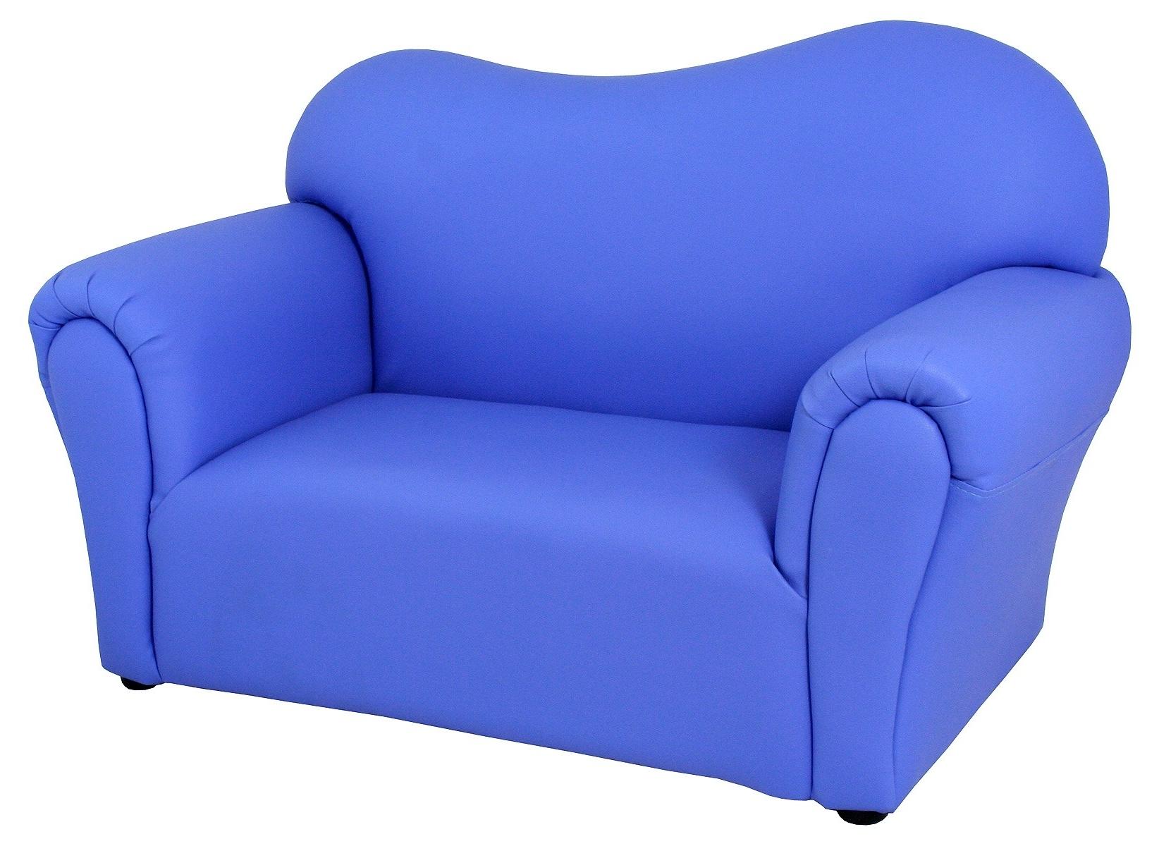 Recent Mini Sofas Pertaining To Childrens Blue Mini Sofa – Be Fabulous! (View 13 of 15)