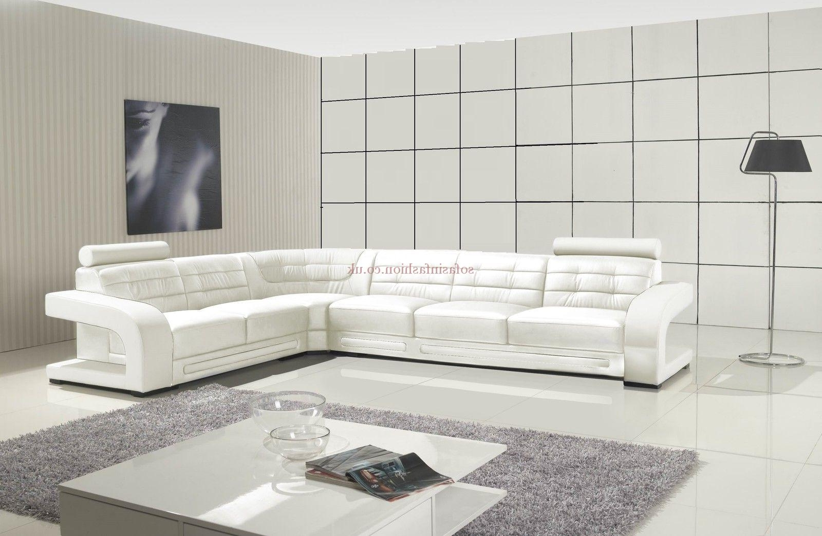 Recent Modern Style White Corner Sofa With White Leather Corner Sofa In White Leather Corner Sofas (View 5 of 15)