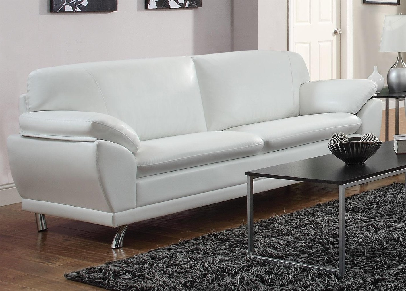 Recent Off White Leather Sofas With Regard To Robyn White Leather Sofa – Steal A Sofa Furniture Outlet Los (View 15 of 15)